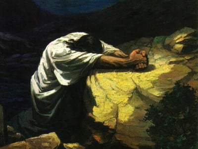 Jesus betet in Gethsemane